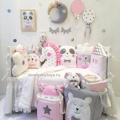 Ой, только не розовыйНе хочу, как у всех Такова установка на сегодня многих мам при выборе текстиля для девочек А я за розовый, надо лишь правильно его преподнестиИ тогда розовый станет стильным и не таким уж приторнымПосмотрите, какая красота для маленьких принцесс есть у нас Кто за такую расцветку? Ставим  LoveBabyToys®