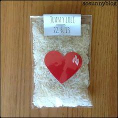 So easy rice wedding packaging, just for very special wedding :-) Arroz para bodas muy especiales, otra manera de presentarlo