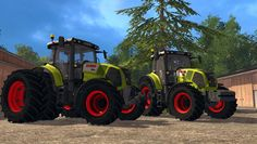 Claas Axion 850 Pack v2.0 - http://fs15world.com/tractors/claas-axion-850-pack-mod