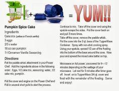 Pumpkin Spice Cake Recipe from Tupperware! Tupperware Recipes, Microwave Recipes, Gourmet Recipes, Cupcake Icing, Cupcake Cakes, Cupcakes, Healthy Frosting, Cooker Cake, Tupperware Consultant