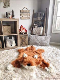 Asher's Nursery Fox rug blanket small size fox rug woodland Nursery decor Woodland Nursery Decor, Childrens Room Decor, Baby Room Decor, Fox Nursery, Woodland Animal Nursery, Woodland Animals, Boy Nursery Rugs, Baby Boy Nursery Decor, Forest Animals