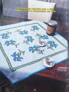 Chicken Scratch Patterns, Picnic Blanket, Outdoor Blanket, Crochet Fish, Sheets Bedding, Embroidery Ideas, Embroidered Towels, Drop Cloths, Light Blue