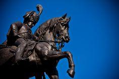 The statue of Lord Londonderry in Durham marketplace