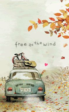 free as the wind Love this illustration! Illustrations, Illustration Art, Urbane Kunst, On The Road Again, Decoupage, Creations, Adventure, My Favorite Things, My Love