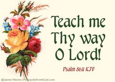 Teach me Thy way, O Lord; I will walk in Thy truth: unite my heart to fear Thy name. I will praise Thee, O Lord my God, with all my heart: and I will glorify Thy name evermore. Scripture Quotes, Bible Scriptures, Psalm 86, King James Bible Verses, The Calling, Walk By Faith, Praise The Lords, Spiritual Inspiration, Christian Life