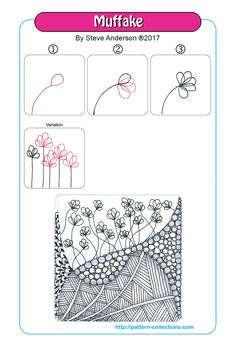 38 Trendy Ideas For Plants Doodle Tangle Patterns Doodle Drawing, Tangle Doodle, Zentangle Drawings, Doodles Zentangles, Doodle Art, Doodle Patterns, Zentangle Patterns, Mandala Pattern, Pattern Art