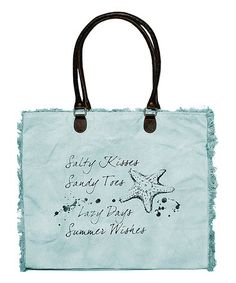 Loving this Blue Salty Kisses Market Tote on #zulily! #zulilyfinds
