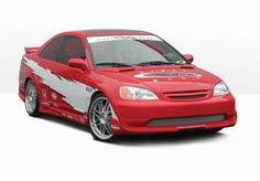 Honda Civic Wings West Series Body Kit with Extreme Fender Flares - - 890554 Honda Civic Parts, Body Kits, Fender Flares, Sick, Wings, Trucks, Cars, Autos, Track
