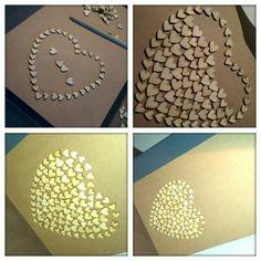 Kleine houten hartjes van de xenos. Door H0ME