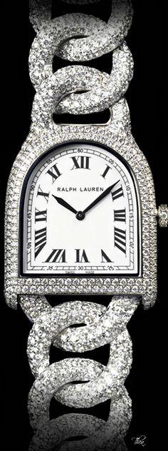 ~Ralph Lauren Diamond Stirrup Watch | House of Beccaria