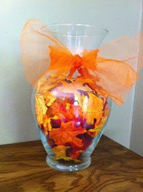 Where the walnut trees grow: Fall Leaves Vase