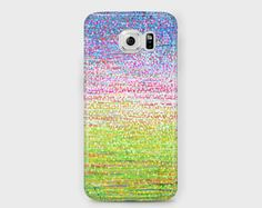 Green and lilac abstract hydrangeas Samsung phone case