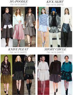 Trend skirts Fall Winter 2014 - 2015 lady fashion --- Trend lunghezza e disegno gonne Autunno Inverno 20145 -2015 moda donna