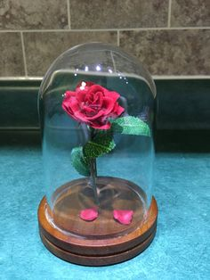 Beauty and the Beast Rose by IlluminatedGlasswork on Etsy