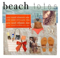 """beach slayy"" by ruthg08901 ❤ liked on Polyvore featuring Art Classics, Ralph Lauren Home, Sun Bum, Gabriella Rocha, Rip Curl, Gossip Collection, Valentino, Palm Beach Jewelry and beachtotes"
