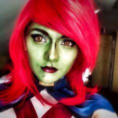 My friend requested that I do Miss Martian so here she is! #miss martial #dccomics #dc #makeupideas #makeup #makeupaddict #makeupartist #superhero #cosplay #cosplaymakeup #comicart