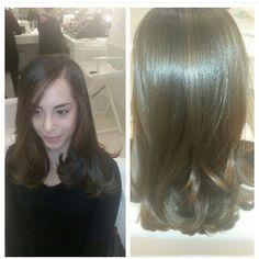 Sleek hair blowout
