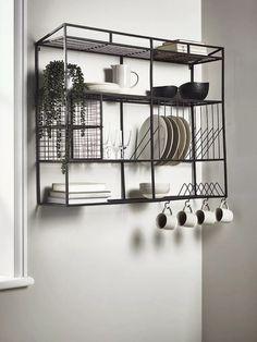 Small Apartment Storage, Small Apartments, Small Wall Shelf, Wall Shelves, Wall Hooks, Hallway Storage, Wall Storage, Kitchen Storage Units, Kitchen Organizers