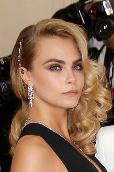 Cara Delevingne #wedding #hair inspiration: http://www.weddingandweddingflowers.co.uk/article/1412/10-gorgeous-wedding-hair-ideas%2C-as-worn-by-our-favourite-celebrities