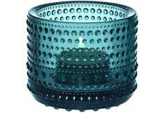 Iittala Kastehelmi kynttilälyhty, merensininen