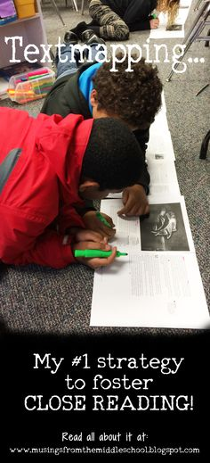 What You Pin Textmapping Textmapping is a strategy for fostering close reading Read all about it here Aimed at middle school but easily adaptable for all grades Links to. Reading Lessons, Reading Skills, Teaching Reading, Guided Reading, Reading Notes, Reading Art, Math Lessons, 6th Grade Reading, Middle School Reading