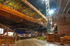 Buildingsite of the new Botlekbridge in Hoogvliet (LUMIX GF1)