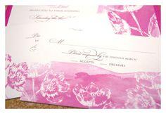 Watercolor Tulip Wedding Invitations by Sparetire Design