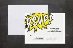 A Comic Book Love Story Wedding Invitations