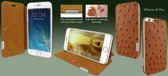 FUNDA iPHONE 6/6S PLUS FRAMASLIM AVESTRUZ. +Colores