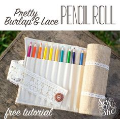 Pretty Colored Pencil Roll Tutorial - from Burlap and Lace! — SewCanShe | Free Daily Sewing Tutorials