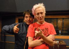 Chikuzen Sato (of Sing Like Talking) returned to Ardent, all the way from Tokyo. Chikuzen, his manager Aki and label rep UmeJun were here for 7 days to mix a new live album with engineers John Hampton and Adam Hill. Here's a picture of Chikuzen with Hampton!