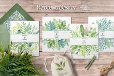Watercolor green design by Natali_art on @creativemarket
