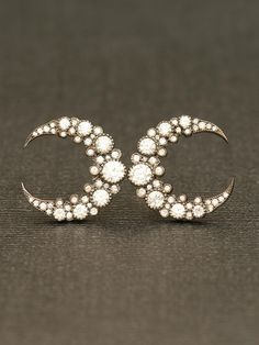 Crescent Moon earrings - beautiful example of symmetrical balance in the design of each earring