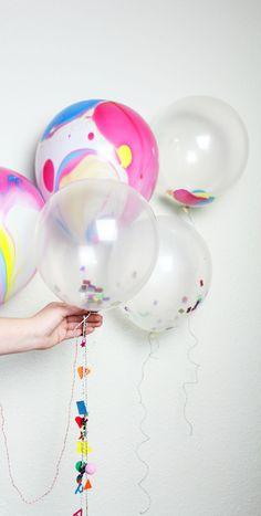 DIY Confetti Balloons | Theseglitteryhands
