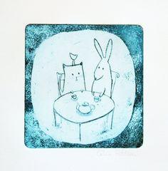 the tea time by fabriqueenpapier on Etsy