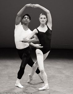 'Carlos [Acosta, principal guest artist at the Royal Ballet] is an inspiration to me; such a charismatic dancer.' Here he is performing with principal Zenaida Yanowsky in September 2011