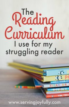 The Reading Curriculum one mom uses to take the struggle out of reading for my struggling reader. #dyslexia #autism #highfunctioningautism