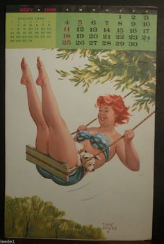 Duane Bryers Hilda September 1966 Swinging From Tree With Dog In Lap