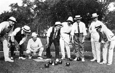 Lawn bowling at the Parade Grounds of Prospect Park, circa Courtesy of the Parks Photo Archive, Neg. Prospect Park, Image C, Vintage Bowls, Park Photos, North London, Sports Pictures, Outdoor Fun, Outdoor Games, Outdoor Photography