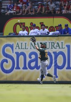 CrowdCam Hot Shot: Oakland Athletics right fielder Josh Reddick makes a catch during the game against the Texas Rangers at Rangers Ballpark in Arlington. Oakland won 5-1. Photo by Kevin Jairaj