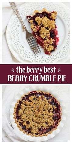 Triple Berry Crumble Pie - Just as perfect in summer as it is on the Thanksgiving table. (Gluten free and traditional versions!)