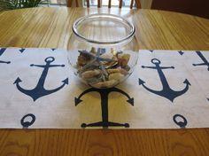 Nautical Anchor Table Runner Table Top Decor.