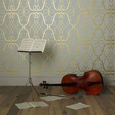 Stradivari  Lombardia Wallpapers @ osborne and Little.  Abit extravagant.