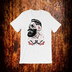 A great fit for skull shirt lovers, bikers and beard lovers. The shirt itself is high quality soft and comfortable. Beard Lover, Skull Shirts, Fabric Weights, Trending Outfits, Mens Tops, Fashion, Moda, Fashion Styles, Fashion Illustrations