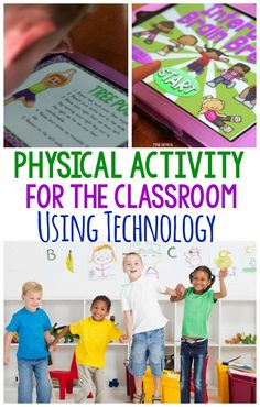 Fun ways to incorporate physical activity in the classroom using technology available in classrooms. Brain breaks for an entire class, individuals or small groups! Really great ideas plus some games and interactive ways to move! Therapy Activities, Classroom Activities, Physical Activities, Motor Activities, Dementia Activities, Craft Activities, Elementary Physical Education, Special Education Classroom, Elementary Schools