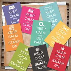 U printables by RebeccaB: Smash Keep Calm FREEBIE
