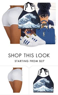 """🌊🌊"" by wavyjai ❤ liked on Polyvore featuring Motel and adidas"