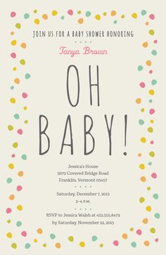 baby shower invitations and birth announcements