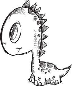 123RF - Des millions de photos, vecteurs, vidéos et fichiers musicaux créatifs pour votre inspiration et vos projets. Sharpie Drawings, Cool Art Drawings, Doodle Drawings, Art Drawings Sketches, Easy Drawings, Animal Drawings, Illustration Art Dessin, Dinosaur Illustration, Graphic Design Illustration