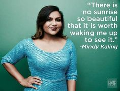 Mindy Kaling gets real about sleep